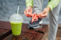 © Dirima | Dreamstime.com - Detox Smoothie Before Running Workout Photo