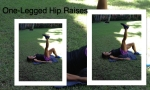 One legged Hip Raises