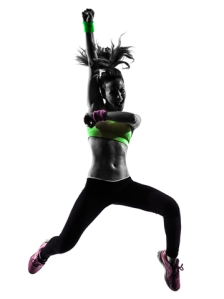 © Pixattitude | Dreamstime.com - Woman Exercising Fitness Zumba Dancing Jumping Silhouette Photo