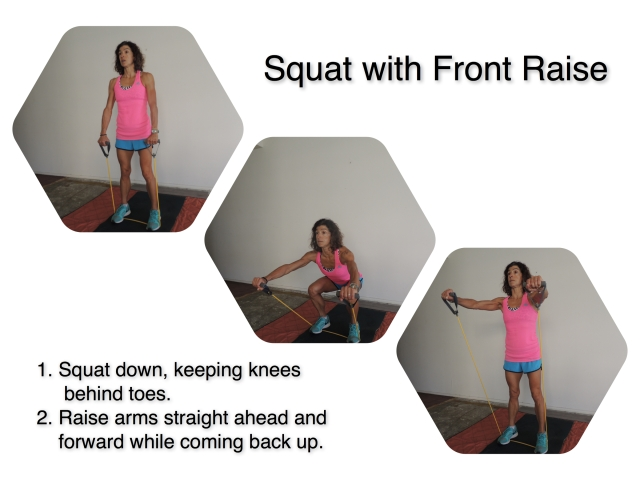Squat with Front Raise