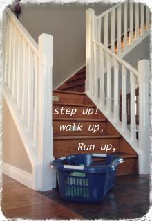 Run up stairs