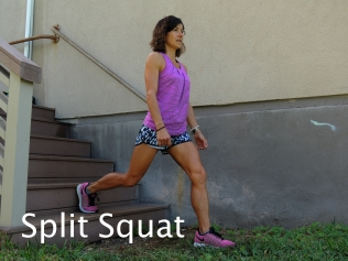 Split Squat Stairs 1