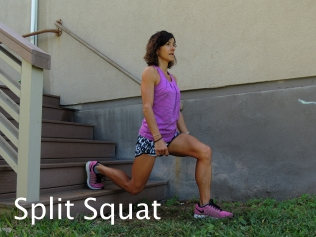 Split Squat Stairs 2