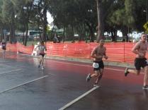 Joylin rushing to the finish
