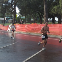 Joylin rushing to the finish